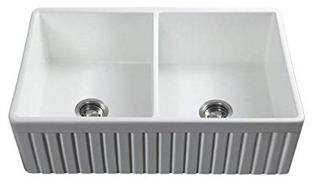 Fossil Blu Farmhouse Sink - Double