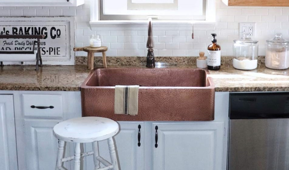 Farmhouse Sink Made of Copper
