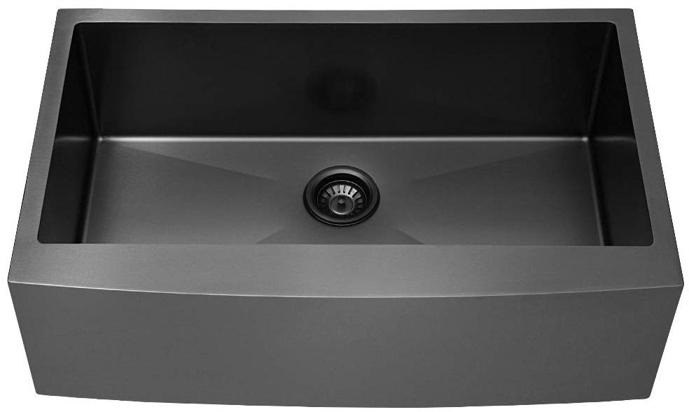 Lordear Black Stainless Steel Farmhouse Sink