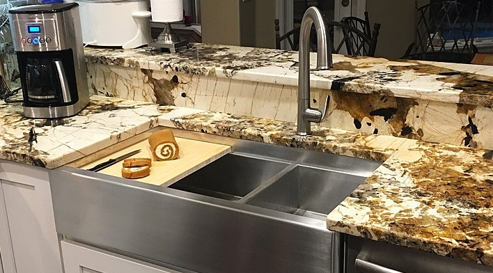 Stainless Steel Sink and Countertop